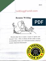 Resume Preparation
