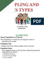 Sampling Design and Techniques