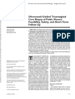 Ultrasound-Guided Transvaginal Core Biopsy of Pelvic Masses_ Feasibility, Safety, And Short-Term Follow-Up