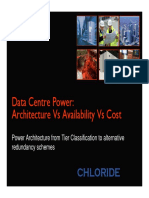 Data Center Power - Architecture x Availability x Cost