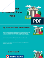 Top 10 Private Banks in India