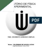 Relatório de Fisica Experimental - Valdemar