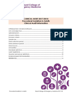 Procedural Sedation - Audit Information 2017-18
