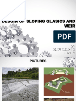 Desgin of Sloping Glasics and Weir 3