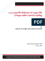 Modeling Pile Behavior in Large Pile Groups Under Lateral Loading