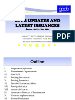 Gppb 2013-2014 Updates and Latest Issuances