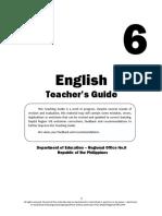 k 12 English 6 Teachers Guide  (First Quarter)