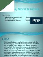 Etika, Akhlak & Moral PPT 1