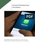 Siapa Sangka WhatsApp Punya Banyak Fitur