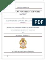 Manufacturing Process at Rail Wheel Factory
