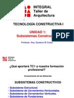 Unidad 1 Subsistemas Constructivos