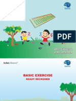 Basic Exercise Ready Reckner - Indian Abacus