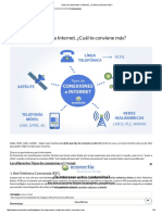 Tipos de Conexiones a Internet