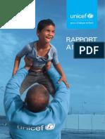 Rapport annuel 2016 de l'UNICEF