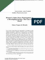 Women Labor Force Participation Brazil
