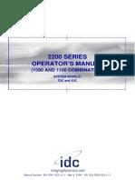 Idc Dr 2200 X-series Operatormanual[1]