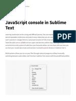 Configuración de SublimeText Para Compilación JavaScript