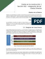 Costos Cons CT002 - Integracion Costos Directos - Materiales