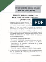 Iniciar Practicas Pre Profesionales 2015