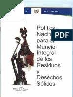 Política Manejo Integral de los Residuos y Desechos Solidos.pdf