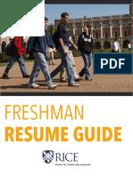 Freshman Resume Guide