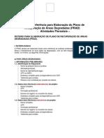 Termo de ReferEncia Para ElaboraCAo Do Plano de RecuperaCAo de Areas Degradadas Prad (1)