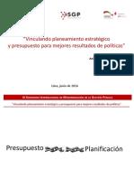 1. Vinculando Planeamiento y Presupuesto - Anibal Sotelo