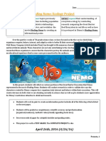 finding nemo animal ecology final project