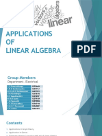 Applications of Linear Algebra