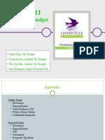 Lewisville Budget Workshop 2010-11