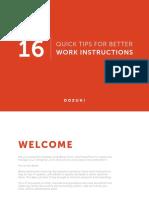 16 Quick Tips for Better Work Instructions Dozuki