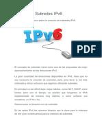 Cálculo de Subredes IPv6