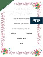 Informe - La Cesión de Posicion Contractual