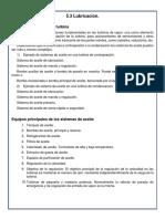 5.3 Sistemas de aceite de la turbina 5.4 Equipo de regulación e instrumentos de control