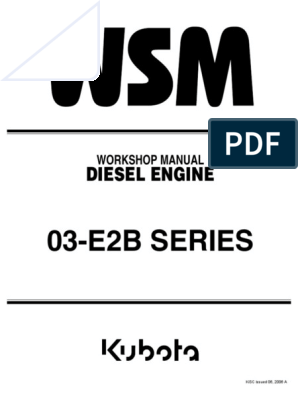 43717372-Kubota-V2203-Workshop-Manual pdf | Diesel Engine