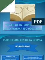 TALLER DE INTERPRETACIÓN DE LA NORMA ISO 9001.ppt