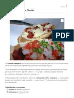 Receta de Molletes con Chorizo - Fácil