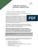 Certificados de residencia - CDI