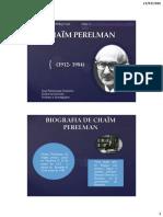 Chaim Perelman y La Nueva Retorica 2016