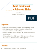 final older adult nutrition   geriatric failure to thrive