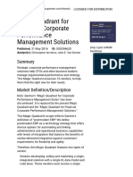 Strategic Corporate Performance Management Solutions Magic Quadrant