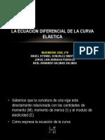 La Ecuación Diferencial de La Curva Elástica