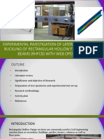 Experimental investigation of laterl distortional buckling of rectangular hollow flange channel beams with web openings