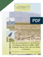 Plan de Conservación para los Pastizales del Altiplano Mexicano 2006-2010