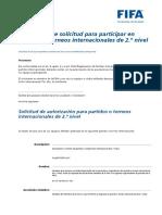 Formulariodesolicitudparaparticiparenpartidoesinternacionalde2.Onivel Spanish
