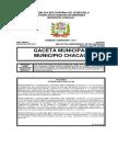 Gaceta Municipio Chacao