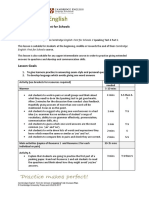 Lesson Plan Speaking FCE