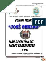 Plan de Gestion Del Riesgo de Desastres
