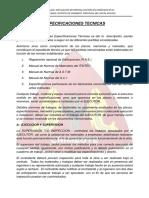 Especificaciones Tecnicas ENROCADO - CHIMBOTE