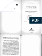 01010036 POPKEWITZ - Los Paradigmas en La Ciencia de La Educación